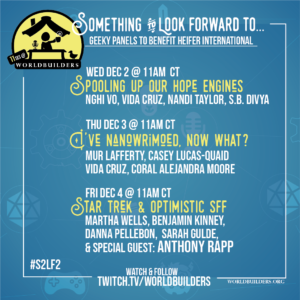 Worldbuilders Twitch stream events Dec 2-4, 2020